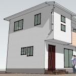 3DCGによるアンテナ施工の住宅