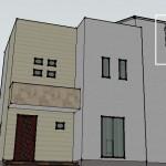 3DCGによるアンテナ設置の住宅