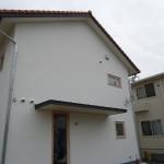 欧風住宅に「彩」とBSアンテナを施工しました